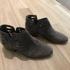 Sam Edelman Gray Suede Ankle Booties